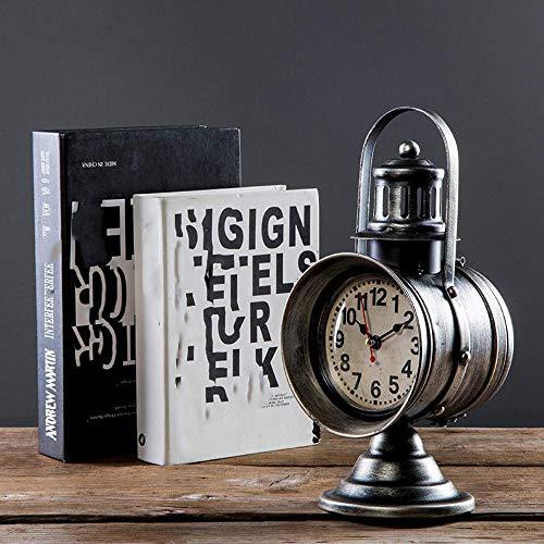 MAlex Horloge de cheminée Vintage décoration Searchlight Assis Horloge vin Armoire TV Armoire Vintage Horloge décoration (13 5 * 17 * 29. 5 cm)