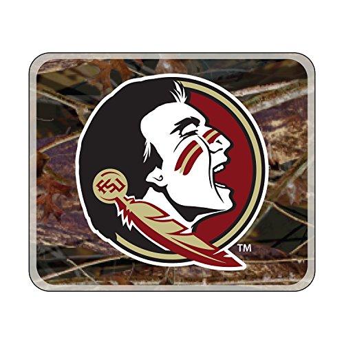 Craftique NCAA Florida State Seminolen Premium Vinyl Aufkleber, Camo Seminole Head Decal (4