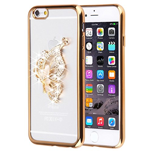 Pour iPhone 6 Plus / 6s Plus, Diamond Encrusted Butterfly Pattern Soft TPU Case JING ( SKU : IP6P0087G ) IP6P0087H