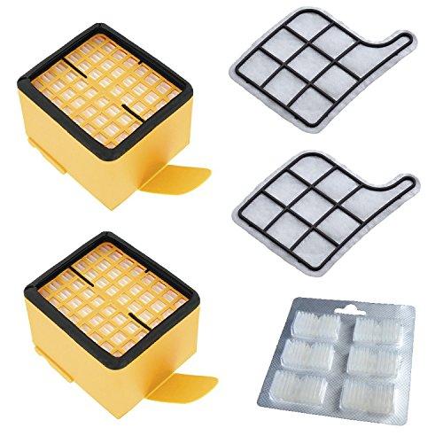 Set di accessori per vorwerk - folletto vk 135/136/135sc/vk135/vk136 - 2 x filtro igienico + 2 x filtro protezione motore + 6 x profumo
