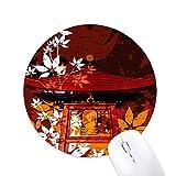 DIYthinker Gomma Mousepad gioco Ufficio Mouse Pad regalo Giappone di stile giapponese Foglie Padiglione rotonda antiscivolo