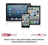 Lightning Kabel - 2m, Pink, Neustes Design- Sehr schnelles iPhone 7 Ladekabel - verstärktes USB Datenkabel mit Knickschutz - Für Apple iPhone 7 6 5, iPad, iPod - SWISS-QA Geldrückgabe Garantie - 3