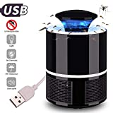 Lvozize LED Mosquito Killer Lamp USB Powered, Super Quiet Electronic Killing Zapper, Chemical-Free