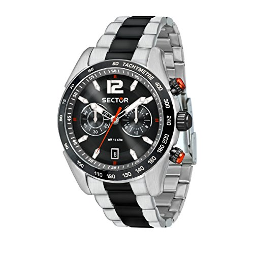SECTOR Orologio Cronografo Quarzo Uomo con Cinturino in Acciaio Inox R3273794005