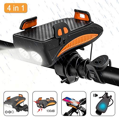 Luz LED Bicicleta Recargable USB De Múltiples