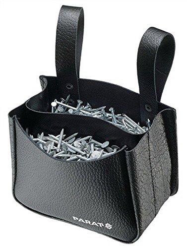 Nageltasche schwarz 120x150x75mm Rindleder PARAT 2 Fächer