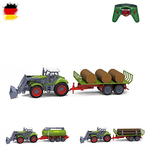 XXL RC ferngesteuerter Traktor mit Anhänger, Trecker inkl. Fernsteuerung, Farmer Fahrzeug aus dem Agrar-Bereich*