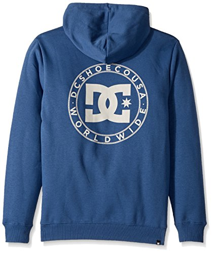 DC Shoes Men's Star Pullover Zip-Up Hoodie Washed Indigo
