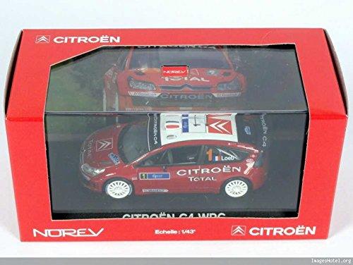 Générique Citroen C4 WRC Rouge Rallye DE France Tour DE Corse 2007 LOEB - NOREV 1/43