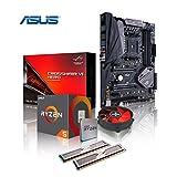 Memory PC Aufrüst-Kit Bundle AMD Ryzen 5 2600X 6X 3.6 GHz, 16 GB DDR4, ASUS ROG Crosshair VI Hero AMD X370, Aura Sync RGB LED´s, komplett fertig montiert und getestet
