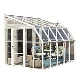 RION Kunststoff Anlehngewächshaus, Tomatenhaus, Wintergarten'Sun Room 45' // 322 x 258 x 266 cm // inkl. Dachfenster