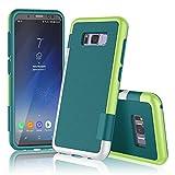 Han Lucky Star Samsung Galaxy S8 Plus Hülle, Samsung Galaxy S8 Plus Handyhülle, Ultra Dünn Case TPU+PC stoßfest Handytashe mit Drei Farben Design Schmutzhülle für Samsung Galaxy S8 Plus (Grün)