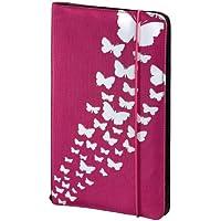 Hama CD Tasche Up to Fashion (Zur Aufbewahrung und Schutz für 48 CDs, DVDs und Blu-rays, Aus Nylon, Mit Schmetterlingsmotiv) rosa