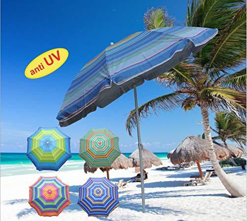 94f70c7dce64 minuto & salomone Ombrellone in Tessuto Nylon spalmato Protezione Anti UV ø  cm 180 con snodo Mare Spiaggia Giardino Fantasia Casuale