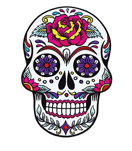 Parche Calavera Rosa Cráneo Biker - 24.5