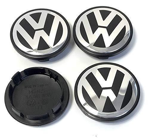 Set mit 4 Radzierblenden für VW Radzierblenden, 55 mm Außendurchmesser, Ersatz-Radkappen, Radzierblenden, Radkappen, Radzierblenden (Mm 65 Nabendeckel Vw)