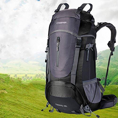 zaino trekking Sacchetto / sacchetto di spalla 60L di alpinismo maschio / femminile / zaino esterno impermeabile di viaggio di viaggio multifunzionale Zaini da escursionismo ( Colore : E , dimensioni  E