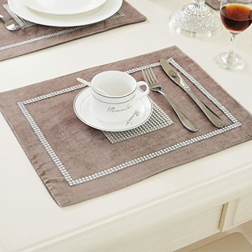 sourcingmap-sparkle-luxury-diamante-table-placemat-velvet-wedding-decor-30-x-40cm-champagne
