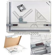 Malayas® Tablero de Dibujo A3 Tabla Dibujo Profesional Con Movimiento Paralelo y Angulo Adjustable