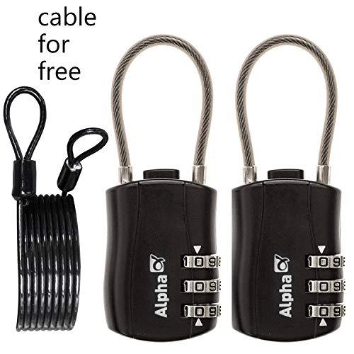 sunerly seguridad viaje equipaje Lock 3dígitos Dial combinación Ca