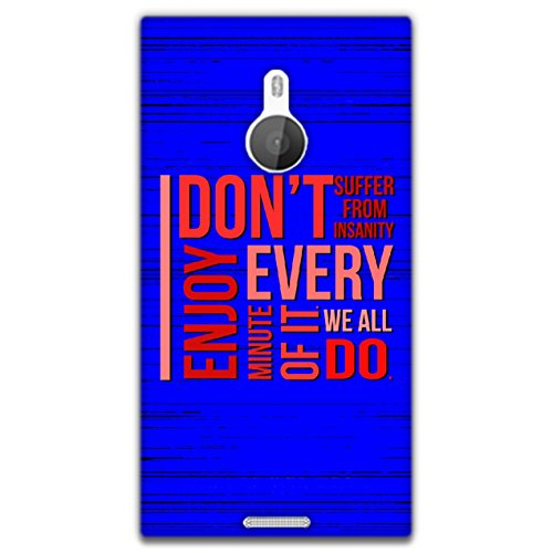 The Racoon Lean printed designer hard back mobile phone case cover for Nokia Lumia 1520. (Insanity)  available at amazon for Rs.99