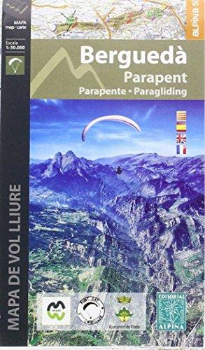 Berguedà parapente. Mapa de vuelo libre. Escala 1:50.000. Editorial Alpina. por VV.AA.