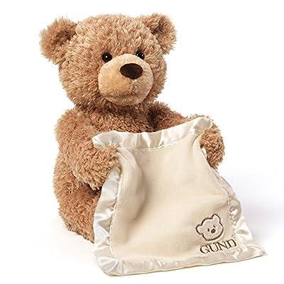 GUND Baby My First Teddy Peek A Boo Blue Soft Toy
