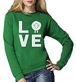 I Love Schaf - DAS Geschenk für Schaf vernarrte Frauen Sweatshirt Small Grün