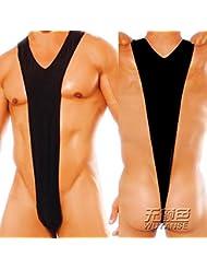 MQZM-Men's sous-vêtements sexy grande élasticité natation sexy hommes voir à travers un morceau thong culotte t pantalon