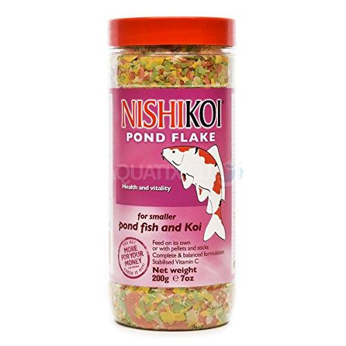 Nishikoi Flocon de Nourriture pour poissons 200 g