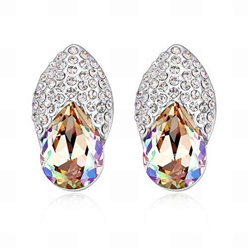 Swarovski elements orecchini a bottone di cristallo scarpe da ballo temperamento orecchini vintage lega di gioielli da donna elementi in cristallo swarovski lega di platino placcato oro bianco , verde luminoso