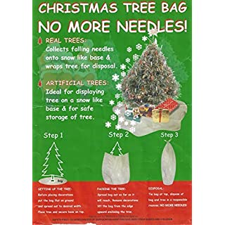 Christmas Tree Bags NEEDLE FREE Solution making tree removal easy Made in UK