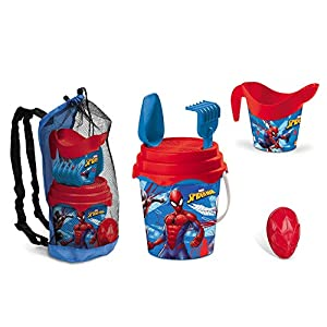 Spiderman - Set de Mochila con Cubo de 17 cm de diámetro y Accesorios
