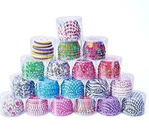 100 Pieces Paper Muffin Cup Cupcake Cases Liners Muffin Kitchen Baking Party (Random Color Will BE Deliver)