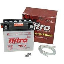 Batterie yb7di a (12N7–4a) 12V 7AH con acido Harley Davidson FX, 1200, xlch, 1000,. Pulsar KYMCO 125, II, Piaggio/Vespa PK 50, S, XL, Xl2, S, E di avviamento (con batteria da 7,50Euro pfand)