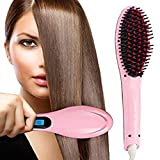 Hemico Fast Hot Hair Straightener Comb Brush LCD Screen Flat Iron Styling Hqt-906