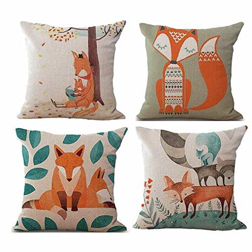 4pc casi di cuscino,kword lenzuola stampate divano cuscino copertina 45 cm * 45 cm home decor rimovibile e lavabile per home bar car office (b)