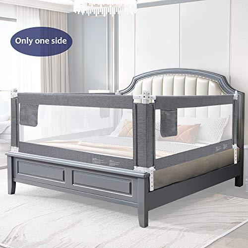 YIKANWEN Bettgitter, 150 cm Bettschutzgitter Kinderbettgitter Babybettgitter,passend für Kinderbetten, Elternbetten und Alle Matratzen Massivholzbetten