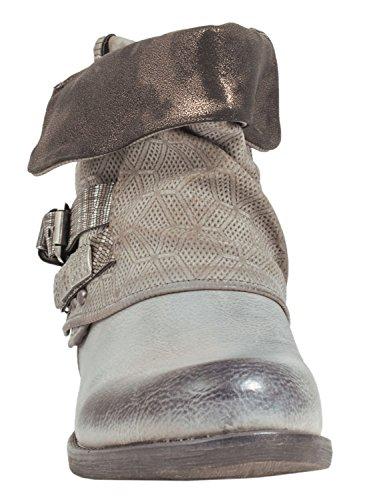 Stivali Da Moto Da Donna Elara | Fibbie Per Stampa Metallica | Stivaletti Rivettati In Similpelle | Foderato Navy Francoforte