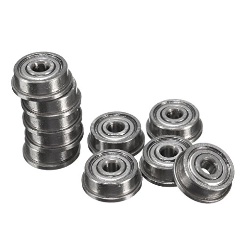 ExcLent 10Pcs F623Zz Mini Metal Double Shielded Flanged Ball Bearings for 3D Printer -