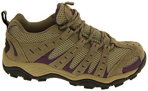 Ladies Montana completamente impermeabili da escursionismo, con lacci scarpe da ginnastica Beige