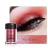 Barbarer Lidschatten Palette, Glitter Perlglanz Lidschatten Pulver Eye Shadow Makeup Pearl Schimmer Metallic Kosmetik Eyeshadow Palette -18 Farben (5)