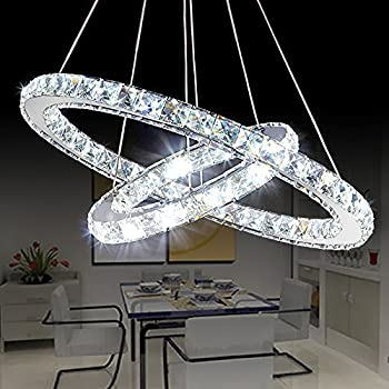 Saint mossi modern circular led k9 crystal chandelier adjustable saint mossi modern circular led k9 crystal chandelier adjustable hanging light tania double collection contemporary ceiling aloadofball Image collections