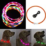 FEESHOW LED Hundhalsband Orange one size