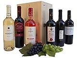 Cassetta Migliori Vini Pugliesi - Regalo Confezione di Vini Pregiati del Territori Vinicolo della Puglia - cod 5a