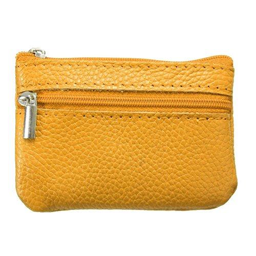Minetom Unisex Homme Femme Porte-monnaie Coin Key Wallet Portefeuille En Cuir Voyage Rangement Petite Bag Avec Zip