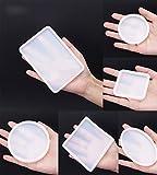 Silikon Harz Casting Form Formen, pdfans Jewelry Halskette Anhänger DIY Backform Harz-Schablonen-Set, 6er Pack