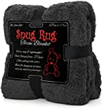 "Snug Rug Special Edition Luxury Sherpa Fleece Snug Rug Throw Blanket, Slate Grey, 127 x 178cm (50"" x 70"")"