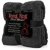 Véritable Snug Rug luxe couverture chaude Throw Fleece Blanket Sherpa - Gris
