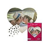 fotopuzzle.de Fotopuzzle 600 Teile als Herzpuzzle: Individuelles Puzzle als Herz mit eigenem Foto,, inkl. indiv. Puzzle-Schachtel (Pink Herzmuster)